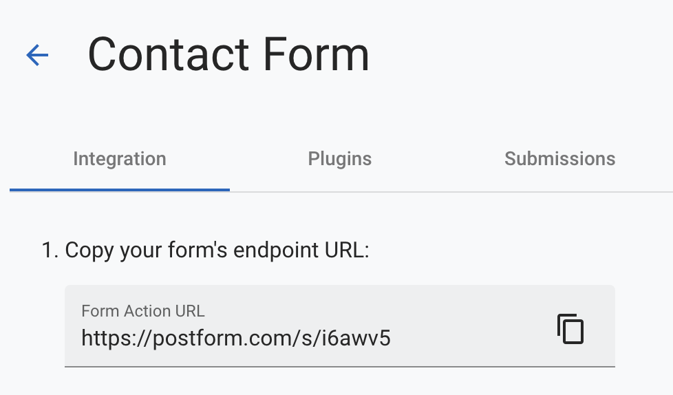 Copy Form Endpoint